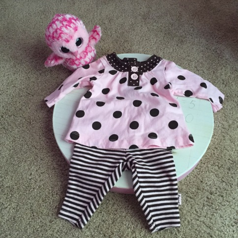 Shana Galen interview - Baby's first outfit.JPG