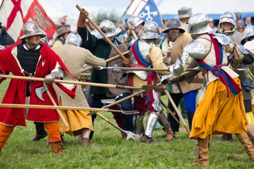 Re-enactment of the Battle of Bosworth Field