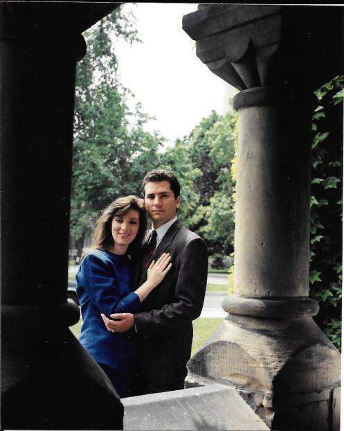 Lila Dipasqua Interview -Our engagement photo 1990