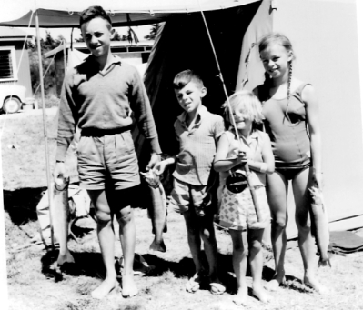 Jude Knight Interview - one of me with my brothers and sister. I'm the kid on the right with the plaits and the large fish.