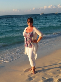 Virginia Heath Interview - Me on Grace Bay beach