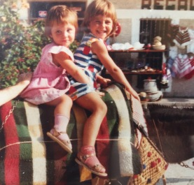 K C Bateman Interview - as a kid with sister 5-6