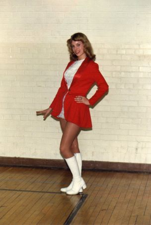 Alexandra Hawkins Interview - pic of me at 17, wearing my dance squad unifor