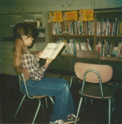 Mimi Matthews Interview - Young Mimi Reading in the School Library